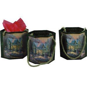 Thomas Kinkade Blessings of Christmas Gift Bag Set of 3