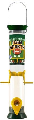 Droll Yankees TS-40213 Team Sports Sunflower/Mixed Seed Feeder, 15-Inch, Green/Yellow