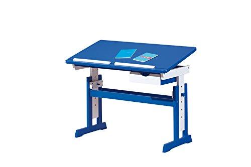 Links-40100600-Kinderschreibtisch-Schlerschreibtisch-Schreibtisch-Kind-blau-verstellbar-NEU