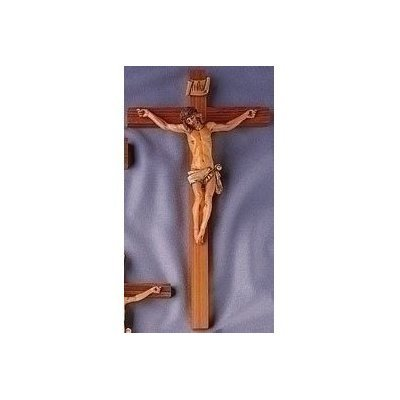 "Fontanini 15"" Religious Wooden Jesus Crucifix Wall Cross #0251"