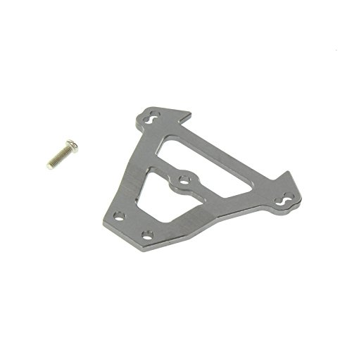 GPM Racing Front Bulkhead Tie Bar for 1:10 Traxxas E Revo + Other TRX Models, Grey