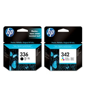 HP 342 and HP 336 Ink Cartridge - Tricolor/Black