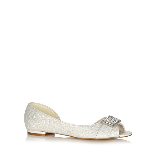No. 1 <strong>Jenny Packham Womens Designer Ivory Diamante Bar Pumps