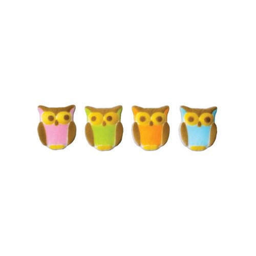 Owl Sugar Decorations Cookie Cupcake Cake 12 Count