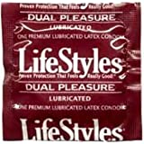 36 Lifestyles Dual Pleasure Tipped Condoms, 15% More Headroom, Increased Sensation and Reliability