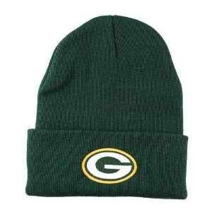 Green Bay Packers Knit Beanie Hat Cuffed Toque Hat, Green from NFL