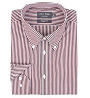 Pure Cotton Quick Iron Bold Striped Poplin Shirt