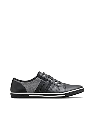 Kenneth Cole Unlisted Men's Tie Crown Fashion Sneaker, Black, 12 M US