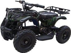 350 Watt Sonora Electric Ride On Mini Quad Utility Atv For Kids, Green Camo