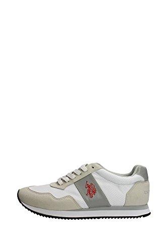 U.s. Polo Assn NOBIL4044S6/NH1 Sneakers Uomo Camoscio/nylon Bianco Bianco 43