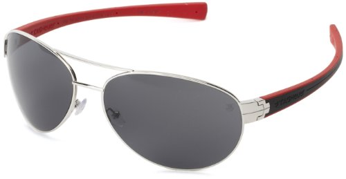 Tag Heuer LRS 253 102 Aviator Sunglasses,Black & Red,62 mm