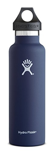 Hydro Flask 18 oz Vacuum Insulated Stainless Steel Water Bottle, Standard Mouth w/Loop Cap, Cobalt (Go Go Dance Shoes compare prices)
