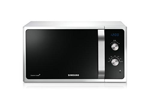 Samsung 01eaw/CE micro-onde/800W/23L/Programme de décongélation/Triple système de distribution/Céramique émail intérieur/Blanc