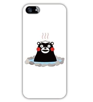 SoftBank au iPhone 5専用 熊本県 ご当地 ゆるキャラ キャラクター くまモン iPhone5 ケース カバー (くまモンのいい湯だな♪だモン!)