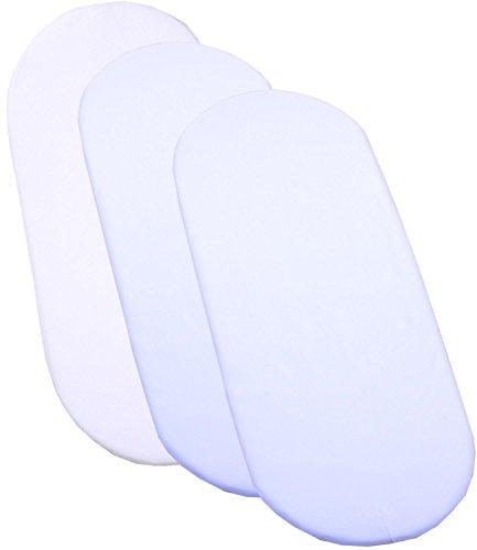 Beautiful BabyPrem Bassinet Bedding Set x cm Mattress u Cotton Fitted Sheets WHITE