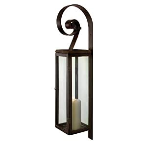Amazon.com: Aurelia Metal and Glass Decorative Candle Lantern ...