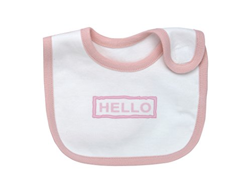 Under The Nile Hello Goodbye Print Bib, Blush, 2 Count