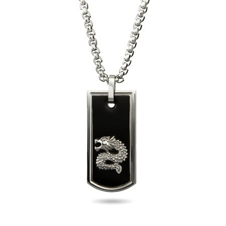 Chinese Dragon Dog Tag Length 24 inches (Lengths 18 inches 20 inches 24 inches 30 inches Available)