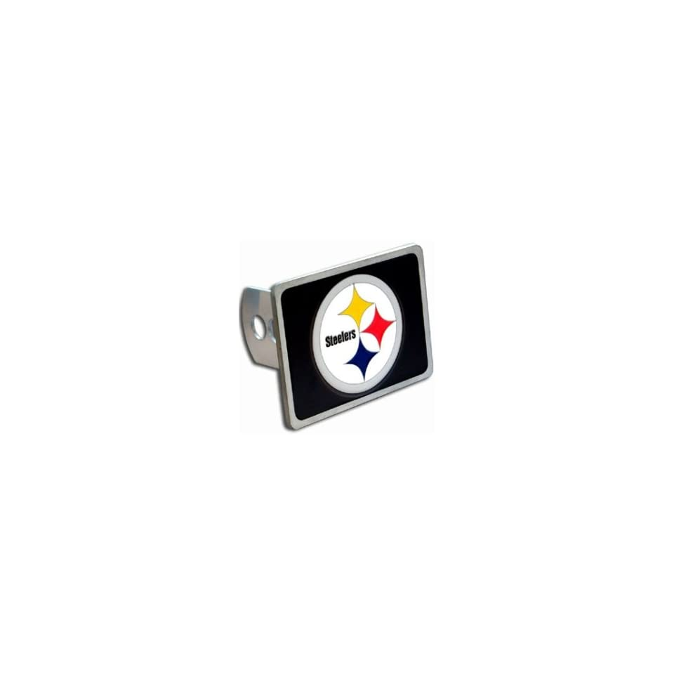 15e6eee44f8dde Pittsburgh Steelers Trailer Hitch Cover Hand Painted With 3 D Carved Logo  Hardware Included