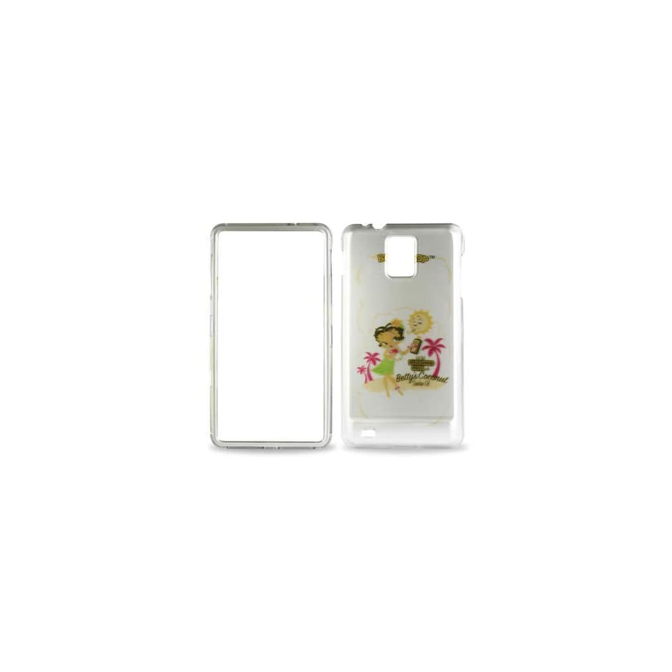 Betty Boop White Hula Dress Samsung Infuse 4G I997 Snap on Cell Phone Case + Microfiber Bag