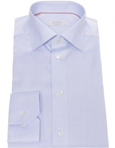 Eton Men's Shirt Blue Contemporary Fit Formal UK 18.5