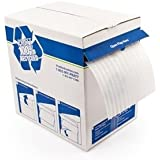 """Pratt Non-Abrasive/Reusable Perforated Foam Roll, 350' Length x 12"""" Width, PAF06012-350P12,  1/16"""" Thick, White"""