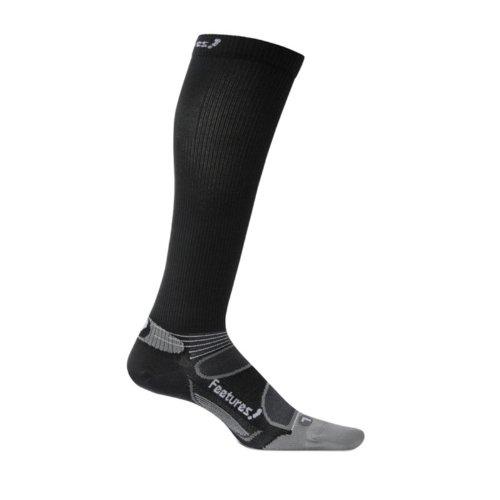 Feetures Socks Feetures Men's Elite Ultra Light Knee Hi Compression Socks, Large (Men's 9-12 / Women's 10-13), Black/Silver