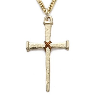 24K Gold over Sterling Silver Cross Necklace