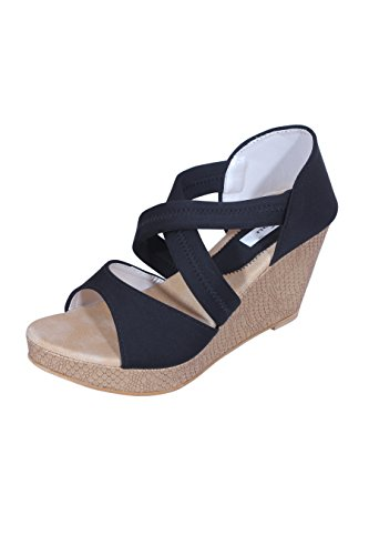 Wedges Allinyou Women's Wedges Fashion Sandals (Brown)