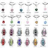 Pro Jewelry Birthstone Spacer Bead Charm