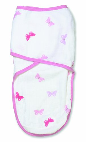 aden by aden + anais Easy Swaddle, Girls-n-Swirls - Butterfly, Large