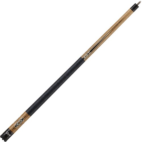 Viper Sinister Series 58-Inch Billiard Cue, Brown Stain With Brown Stain Diamond/Black Inlay (18-Ounce)