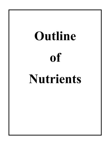 Outline Of Nutrients
