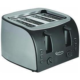 Betty Crocker Appliances BPL-631U Betty Crocker Platinum Stainless Steel 4-Slice Toaster