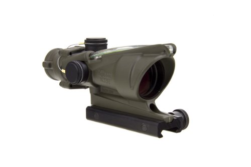 Acog Ta31-D-100366 4X 32 Dual Illuminated Green Horseshoe Dot 0.223 Bac Reticle Scope, Od Green