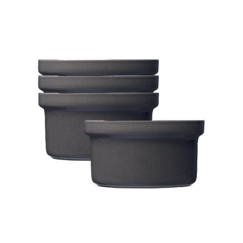 Emile Henry Urban Ramekin, Set of 4, Slate