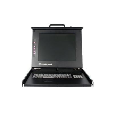 StarTech.com Dual Rail Rackmount LCD Console with Fingerprint Reader