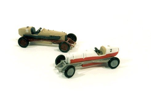 1930'S SPEEDWAY RACE CARS (2) - JL INNOVATIVE DESIGN HO SCALE MODEL TRAIN ACCESSORIES 901
