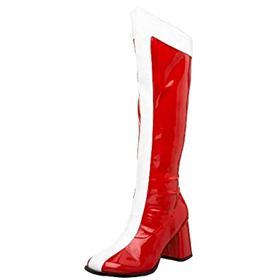 Funtasma by Pleaser Women's Halloween GOGO-305,Red/White Stretch Patent,5 M