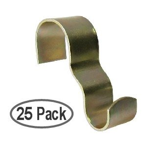 25 Pack Brass Plated Steel Picture Rail Hooks Wide (Picture Rail Molding compare prices)