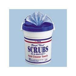 scrubs-itw42272ea-hand-cleaner-towels-cloth-10-1-2-x-12-1-4-blue-white-72-bucket-blue-white