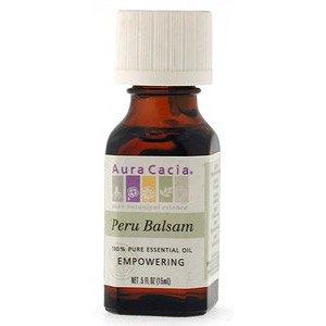 Aura Cacia Pure Essential Oil Peru Balsam - 0.5 fl oz pack of- 6