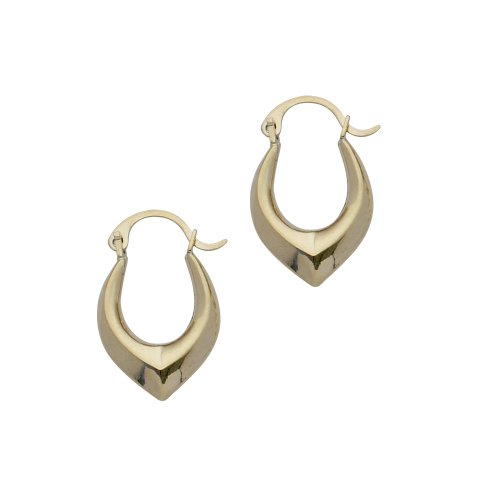 9ct Gold Small V Creole Earrings
