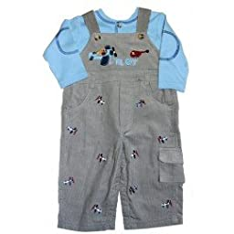 Good Lad Baby-boys Corduroy Pilot Over and Long Sleeve Shirt