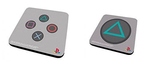 Set Di 2 Sottobicchieri: Playstation - Controller + Triangle (9x9 cm)