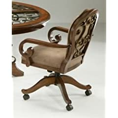 Carmel Swivel Tilt Caster Dining Chair Pastel Furniture