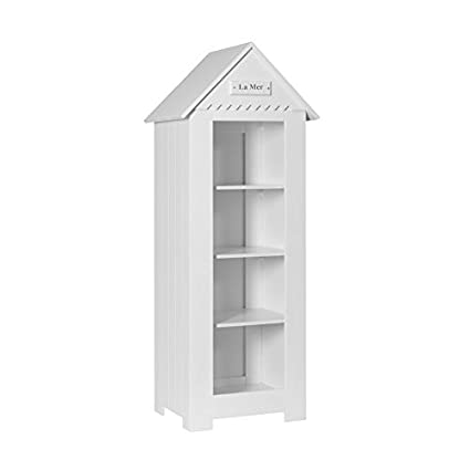 lounge-zone Scaffale bambini Biblioteca LA MER con Tetto spiovente bianco marittimo skaninavisches Design Larghezza: 72cm 13263