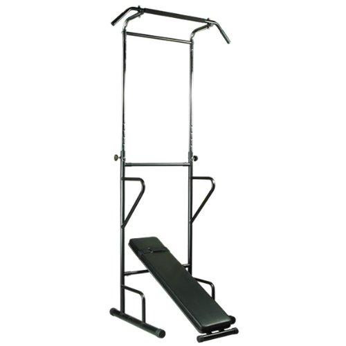 PURE RISE(ピュアライズ) ぶら下がり 健康器 背筋伸ばし 懸垂 腕立 筋トレ シットアップベンチ付き ブラック