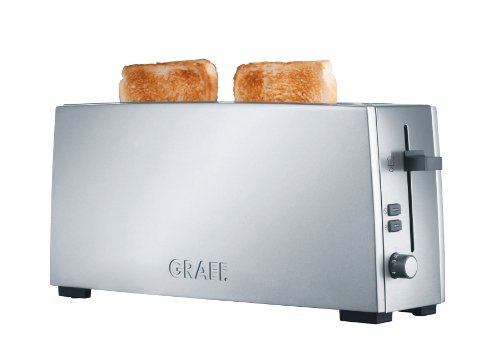 Graef Matt Brushed Long Slot Stainless Steel Toaster