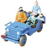 """Tintin et Milou: Tim & Struppi - Modellauto Blauer Jeep mit """"Certificat d´Authenticité"""""""